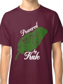 Awesome Unique Vegan T-Shirt - Powered By Kale For Men And Women Classic T-Shirt