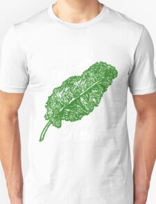 Awesome Unique Vegan T-Shirt - Powered By Kale For Men And Women Unisex T-Shirt