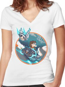 Marty Kart 88 Women's Fitted V-Neck T-Shirt