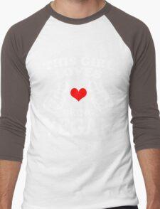 Cool Unique This Girl Loves Being A Vegan Best Gift For Vegan Women Men's Baseball ¾ T-Shirt