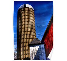 SIlo and Red Barn Poster