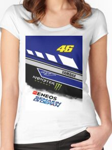 Yamaha M1 VR 46 Women's Fitted Scoop T-Shirt