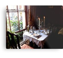 Table for two in Baker Street Metal Print