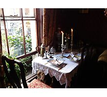 Table for two in Baker Street Photographic Print