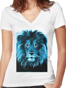 The Spectral King Women's Fitted V-Neck T-Shirt