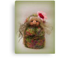 Handmade needle felted creation from Teddy Bear Orphans Canvas Print