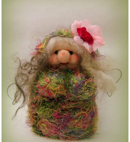 Handmade needle felted creation from Teddy Bear Orphans Sticker