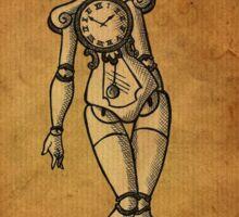 Steampunk Clockwork Girl Sticker