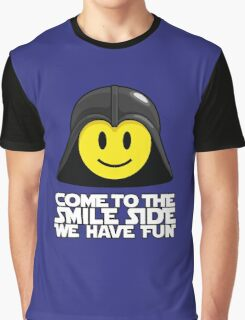 Darth Smiley - Come to the Smile Side Graphic T-Shirt