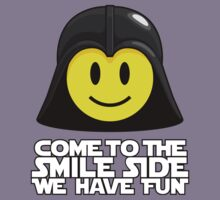 Darth Smiley - Come to the Smile Side Kids Tee