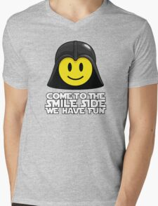 Darth Smiley - Come to the Smile Side Mens V-Neck T-Shirt