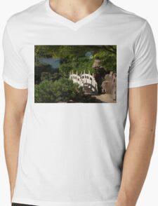 Ornate White Stone Bridge  Mens V-Neck T-Shirt