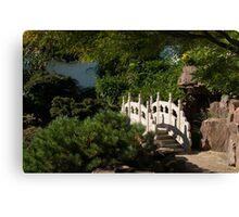 Ornate White Stone Bridge  Canvas Print