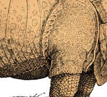 Vintage Rhinoceros Illustration Sticker