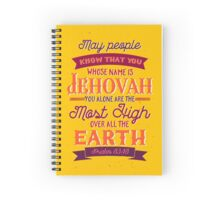 PSALM 83:18 Spiral Notebook