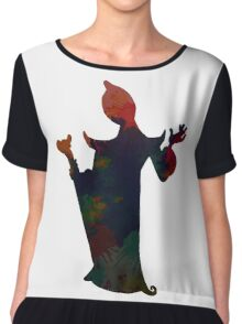 Evil inspired Silhouette Chiffon Top