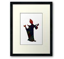Evil inspired Silhouette Framed Print
