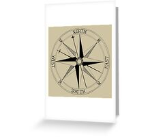 Antique Compass Rose Greeting Card