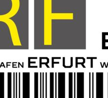 Destination Erfurt Airport Sticker
