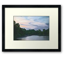 Sundown on the Racoon River Framed Print