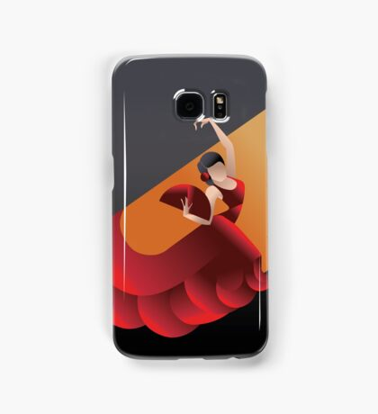 Art Deco styled Spain Flamenco dancer Samsung Galaxy Case/Skin