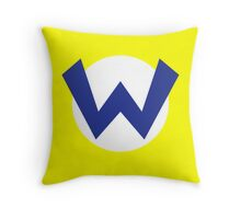 Original Wario Emblem Throw Pillow
