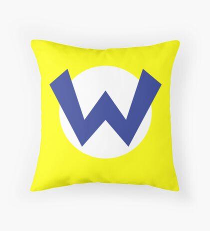 Original Wario Emblem Throw Pillow