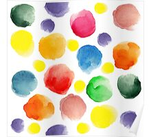 watercolor pattern.  hand painted watercolor circles _2 Poster