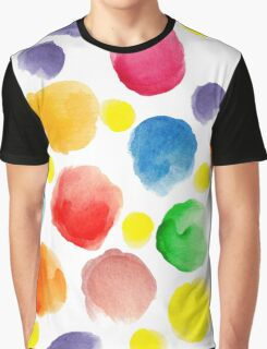 watercolor pattern.  hand painted watercolor circles _2 Graphic T-Shirt