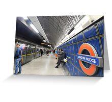 London Bridge's Underground Greeting Card