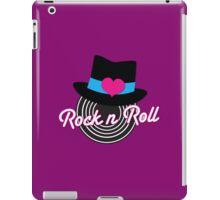Rock n Roll cute record top hat iPad Case/Skin