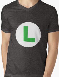 Original Luigi Emblem Mens V-Neck T-Shirt