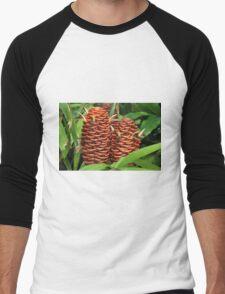 Tropical plant Men's Baseball ¾ T-Shirt