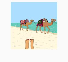 Camels on the Beach Unisex T-Shirt