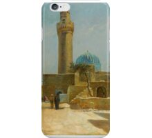 Olaf Viggo Peter Langer (Leipzig, Germany - Rungsted, Denmark ), View of the Bibi-Heybat Mosque iPhone Case/Skin
