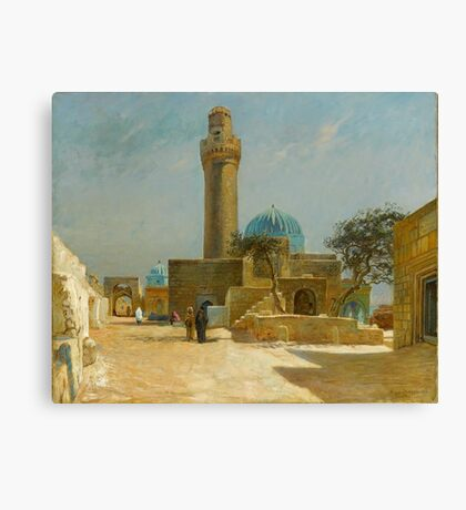 Olaf Viggo Peter Langer (Leipzig, Germany - Rungsted, Denmark ), View of the Bibi-Heybat Mosque Canvas Print
