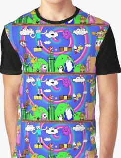 Super Mario Adventure Time  Graphic T-Shirt