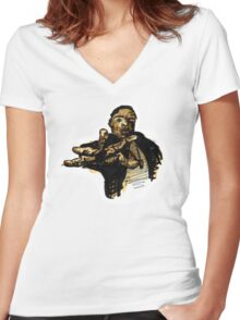 Biggie. Women's Fitted V-Neck T-Shirt