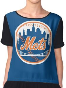 New York Mets - Royal Blue [HQ DESIGNS] Chiffon Top
