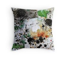 Chaos Mapping (Collaborative Drawing with Anna Lees) Throw Pillow