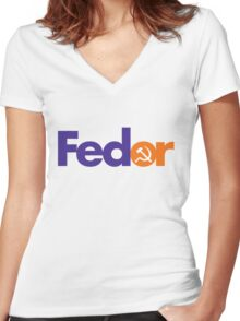 FEDOR Women's Fitted V-Neck T-Shirt