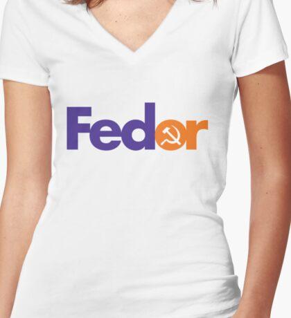 FEDOR Women's Fitted V-Neck T-Shirt