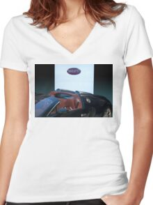 Bugatti Veyron 2 Women's Fitted V-Neck T-Shirt