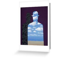 High Society by Magritte  Greeting Card
