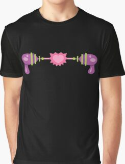 Retro Purple Raygun Love Graphic T-Shirt