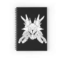 Honor the Legends - Fallen Captain [White on Black] Spiral Notebook