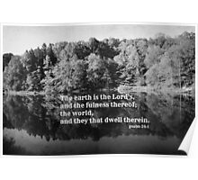 Psalm 24 Earth is the Lord's Poster