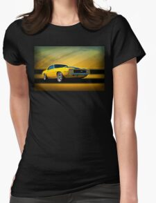 Yellow 1969 Camaro SS Womens Fitted T-Shirt