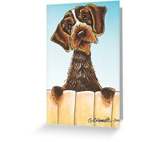 Fence Patrol Greeting Card