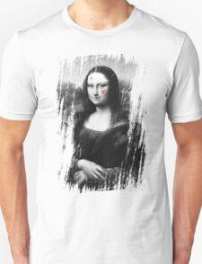 Restored Mona Lisa b Unisex T-Shirt